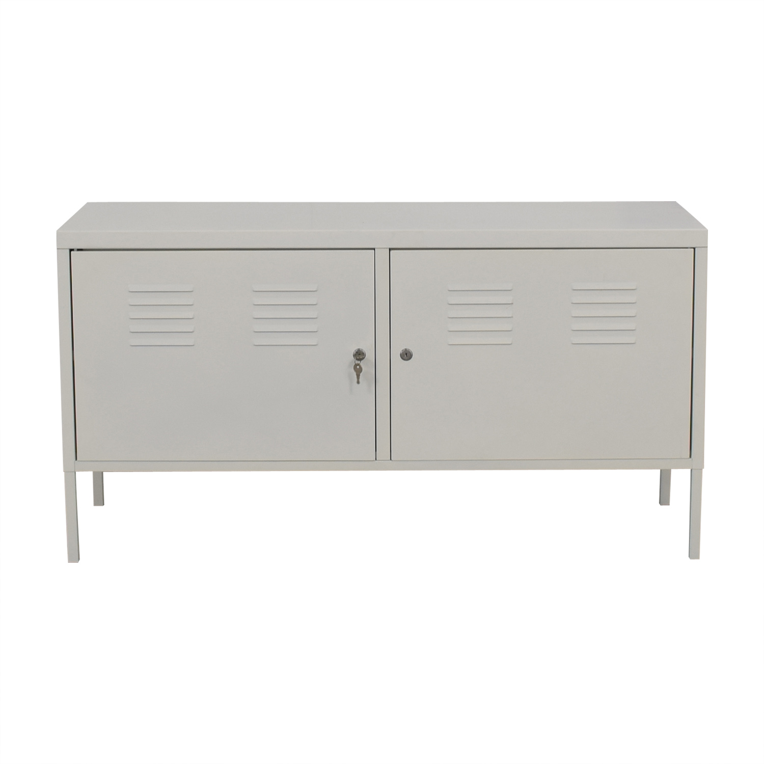 Ikea White Metal Locker Cabinet Storage