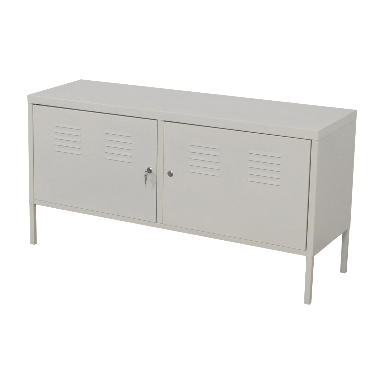 68 Off Ikea Ikea White Metal Locker Cabinet Storage
