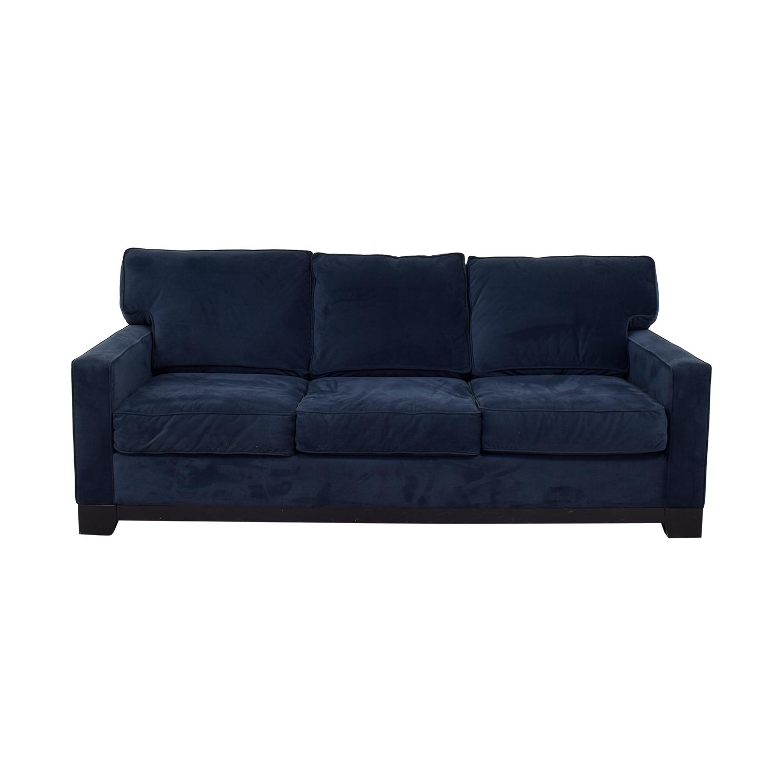 buy Rowe Navy Three-Cushion Couch Rowe Sofas