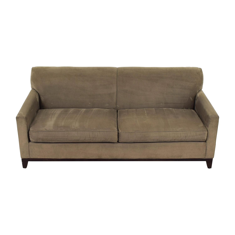 shop Rowe Taupe Two-Cushion Sofa Rowe