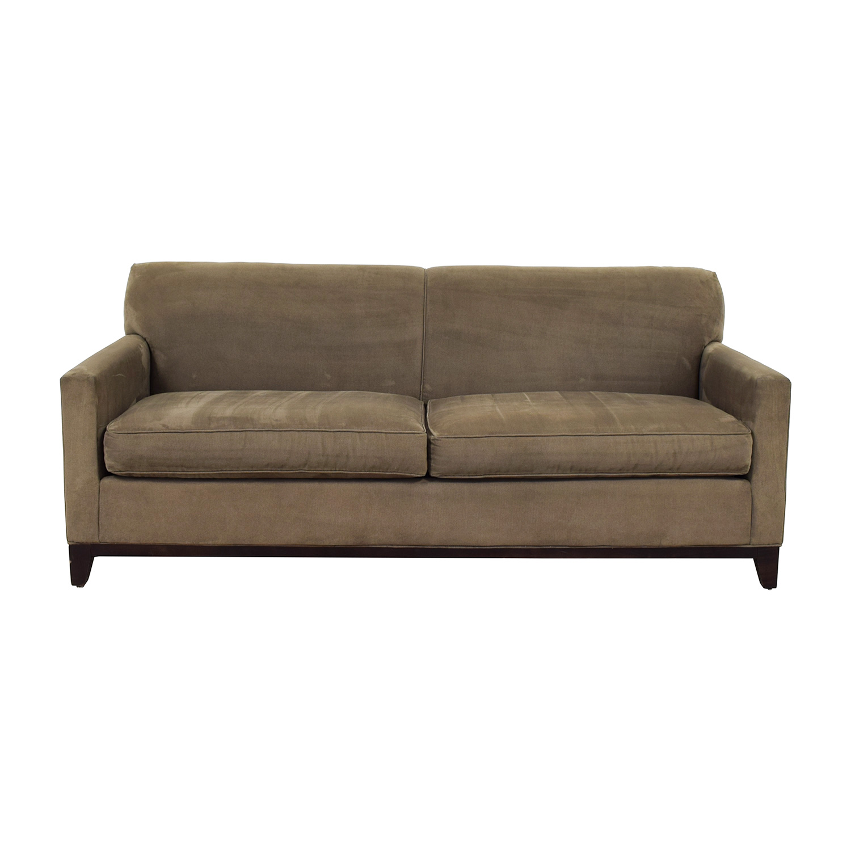 buy Rowe Rowe Taupe Two-Cushion Sofa online
