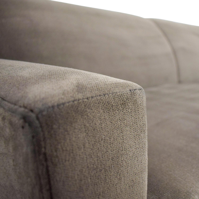 buy Rowe Taupe Two-Cushion Sofa Rowe
