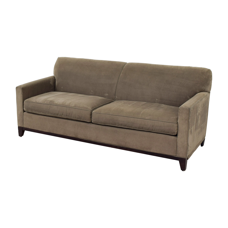 buy Rowe Taupe Two-Cushion Sofa Rowe Classic Sofas