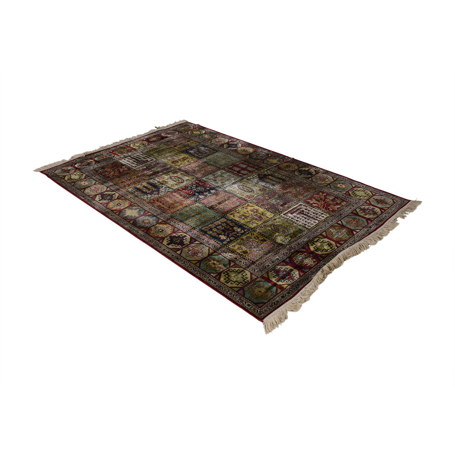 Quilt Style Multi-Colored Rug discount