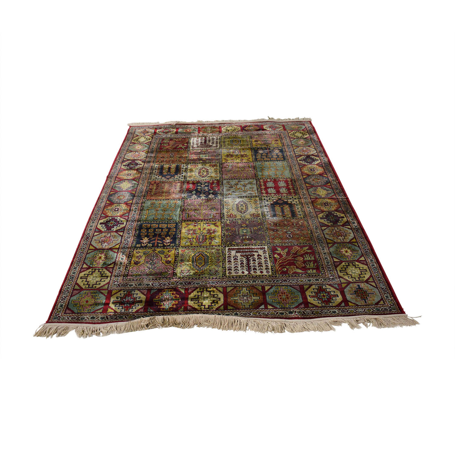 Quilt Style Multi-Colored Rug coupon