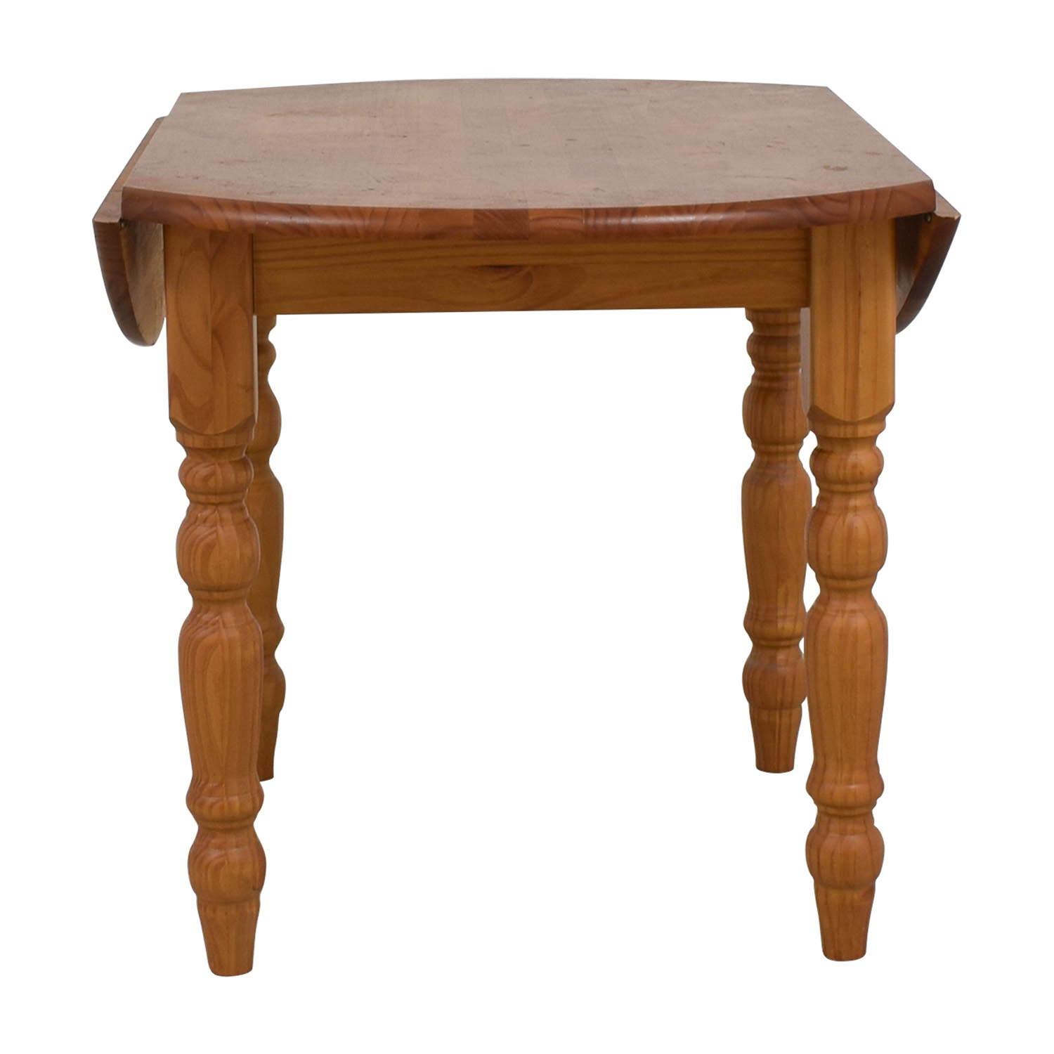 Wood Side Drop Leaf Round Table nj