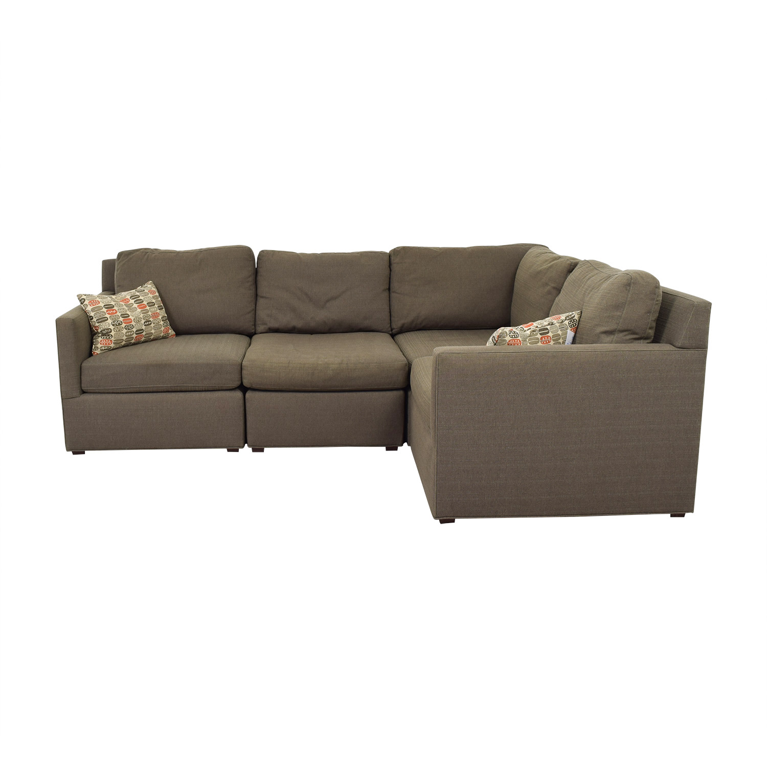 Crate & Barrel Crate & Barrel Grey L-Shaped Sectional price