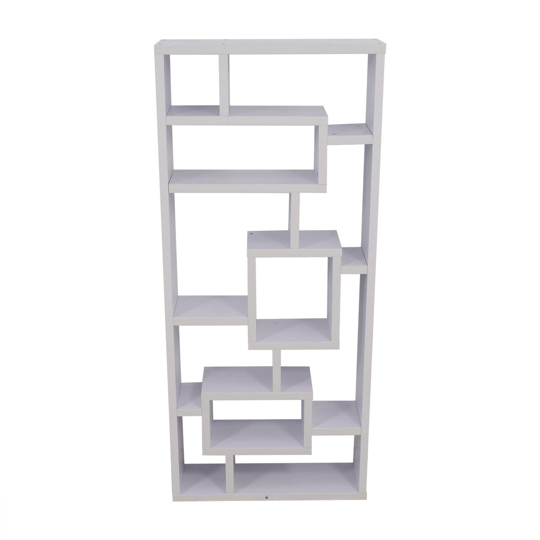 40 Off White Modular Wooden Bookcase Storage