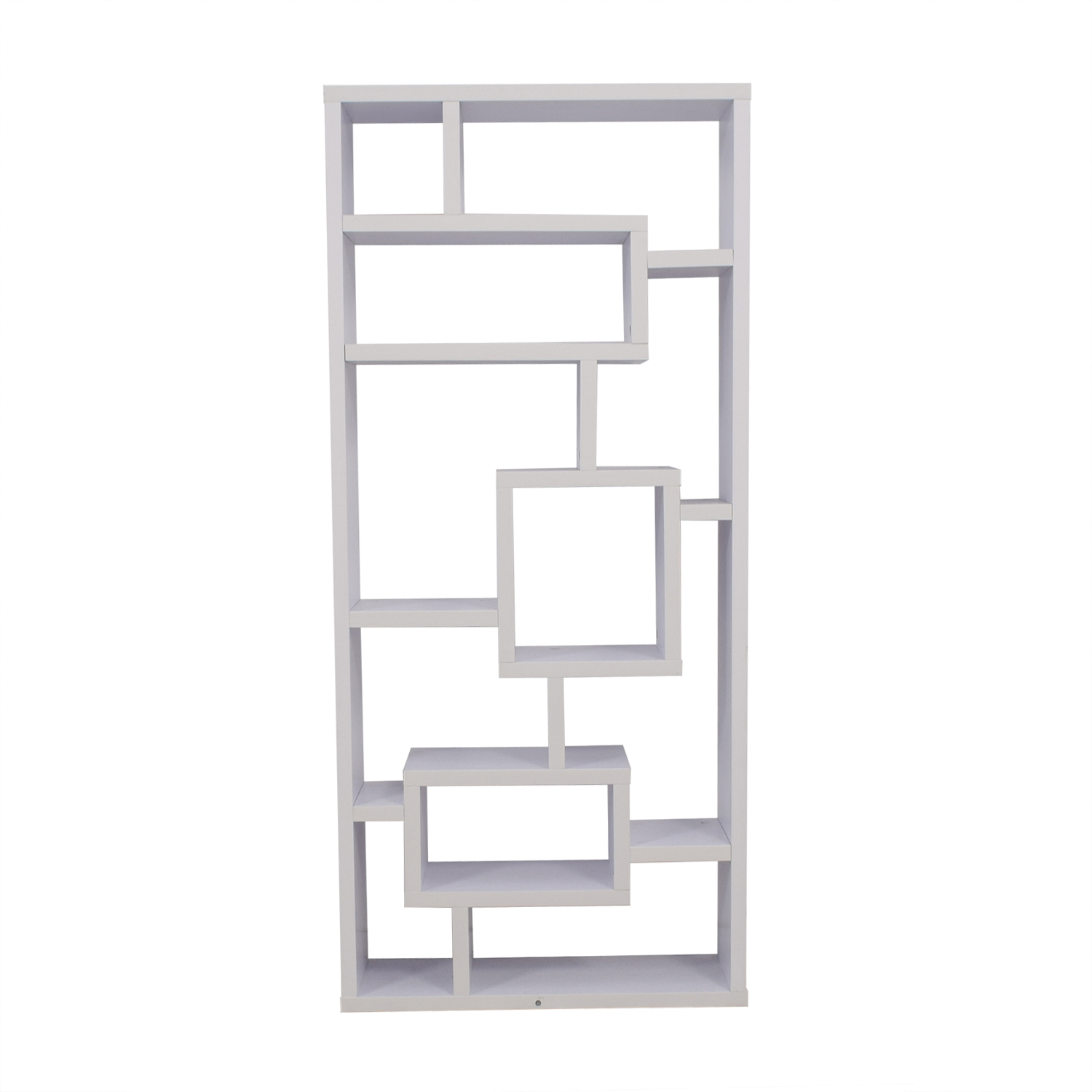 White Modular Wooden Bookcase coupon