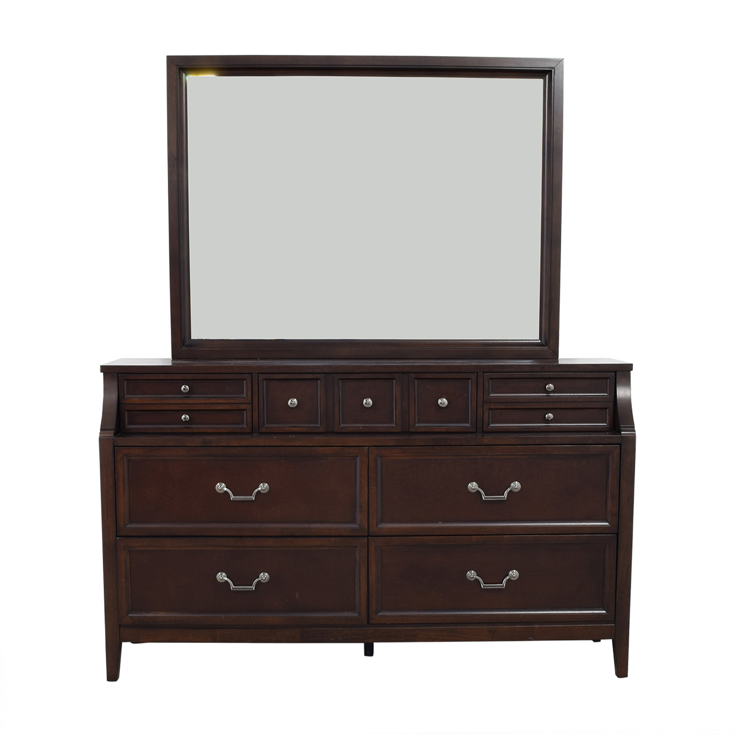 Raymour & Flanigan Raymour & Flanigan Seven-Drawers Wood Dresser with Mirror second hand