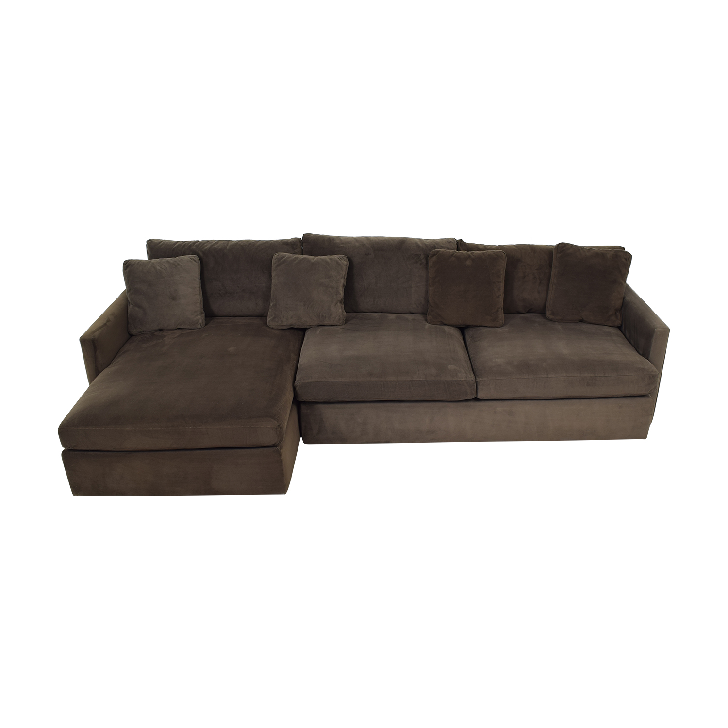Crate & Barrel Crate & Barrel Brown Chaise Sectional for sale