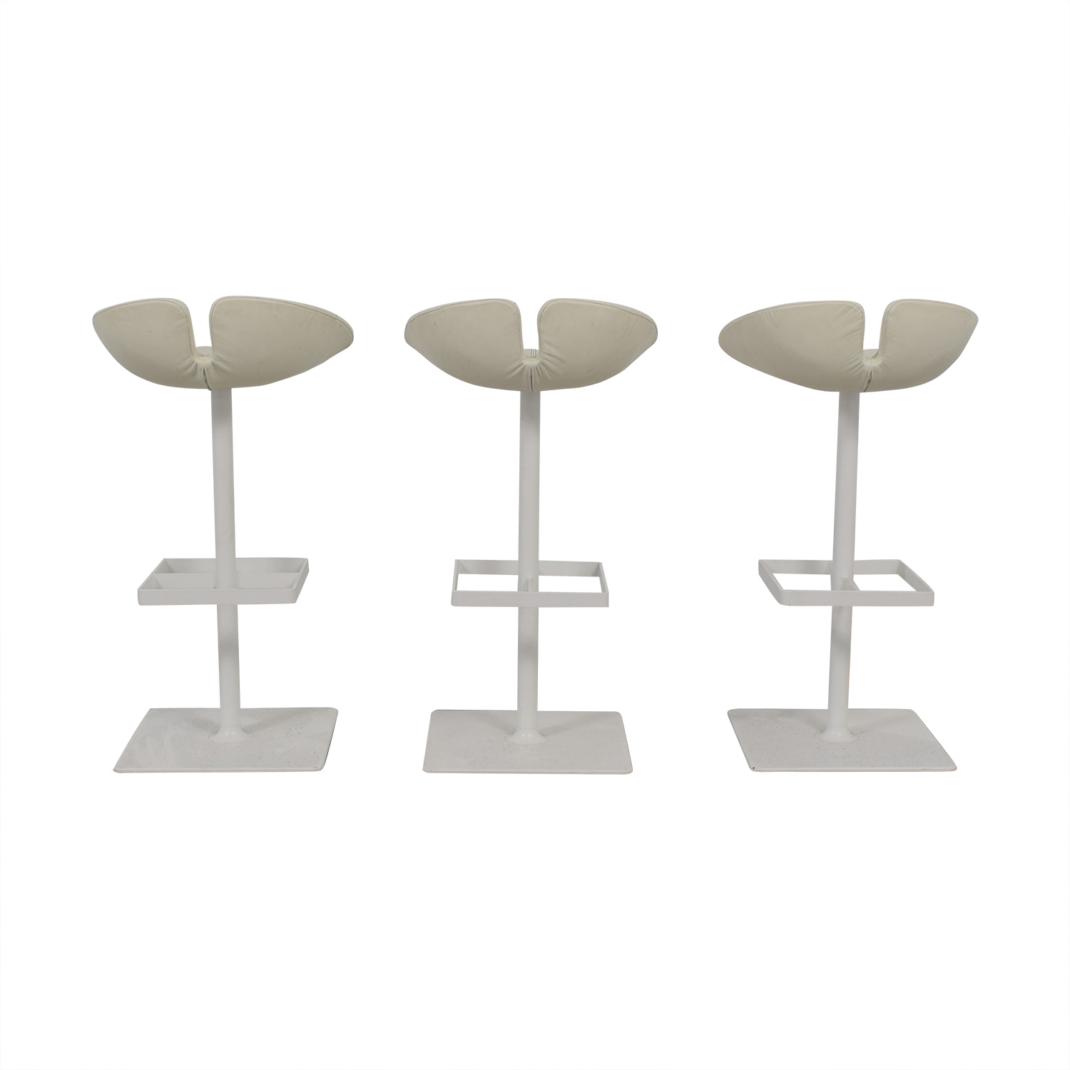 Moroso Moroso Fjord White Leather Barstools discount