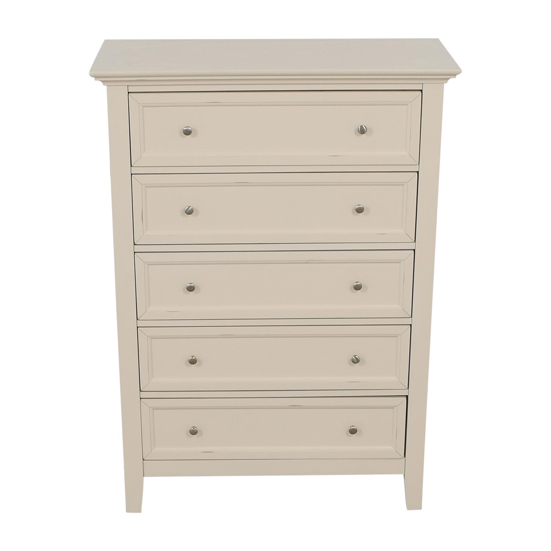 Macy's Macy's Sanibel White Five-Drawer Tall Dresser