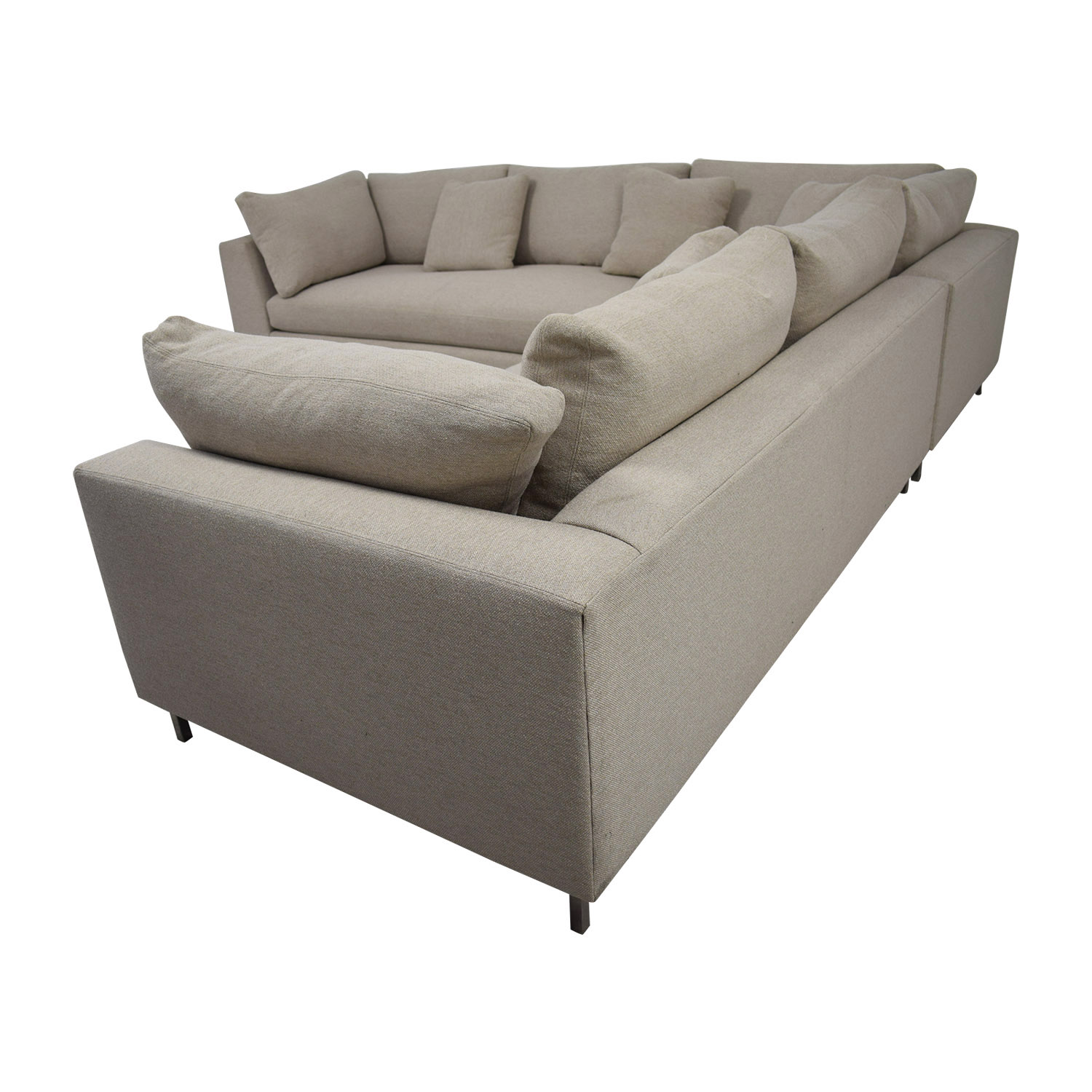 Room Board Beige L Shaped Sectional