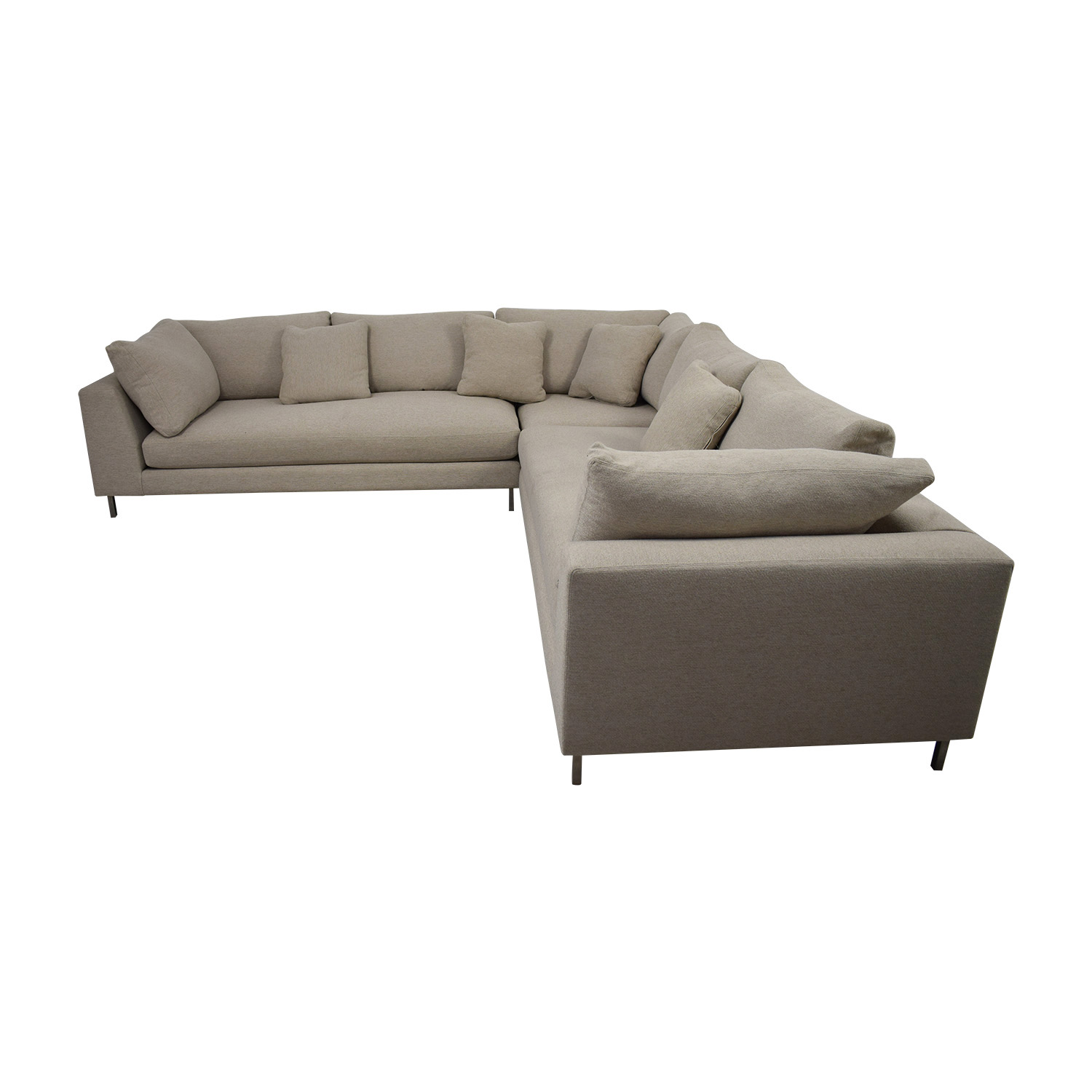Room & Board Room & Board Beige L-Shaped Sectional nyc