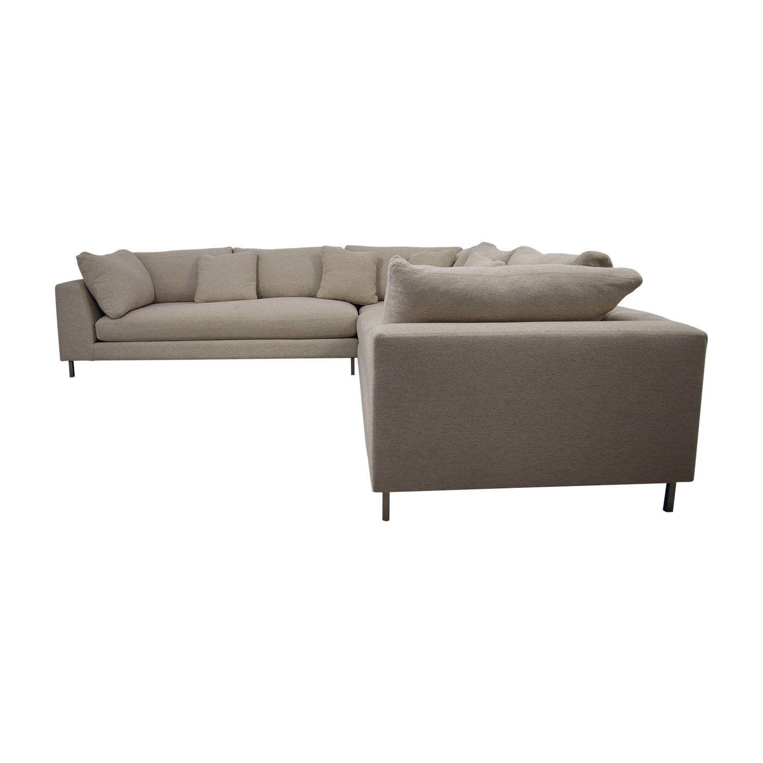 Room & Board Room & Board Beige L-Shaped Sectional Sofas