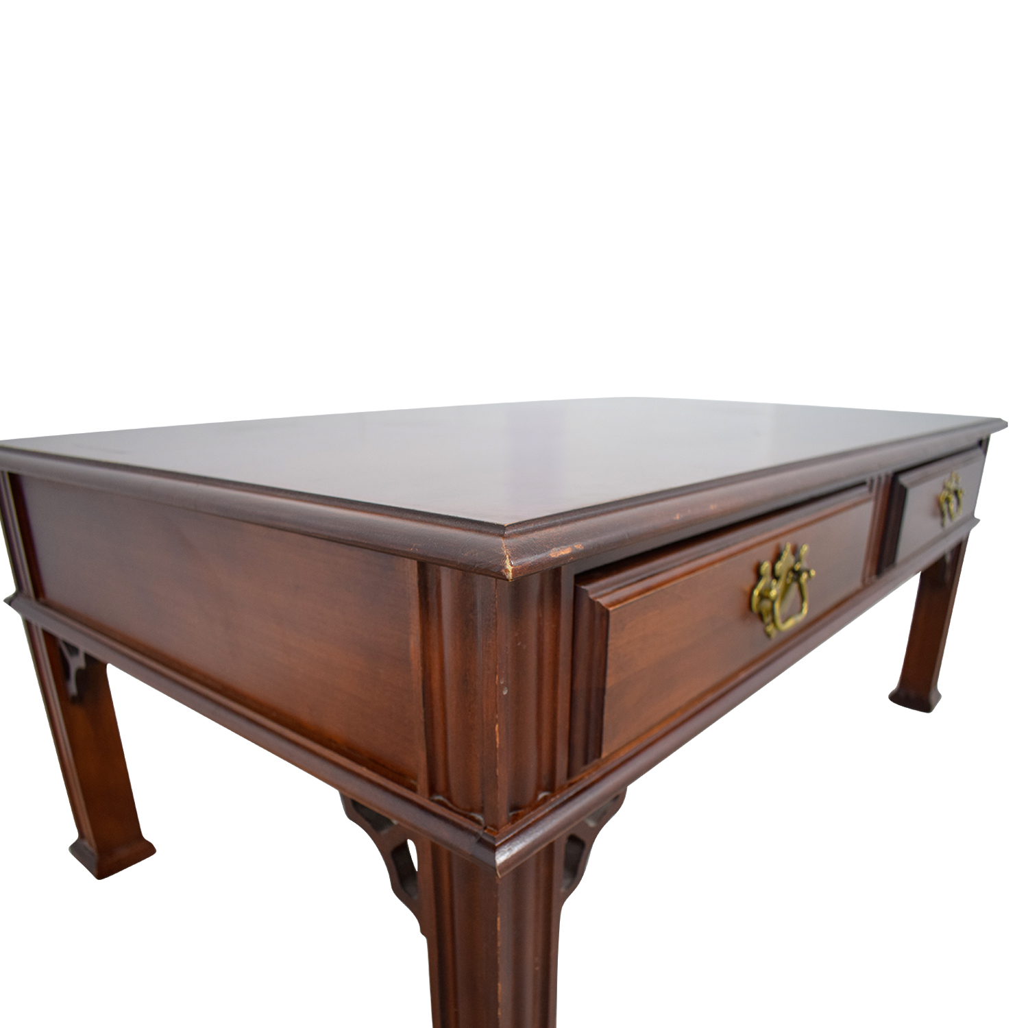 Broyhill Broyhill Wood Two-Drawer Coffee Table