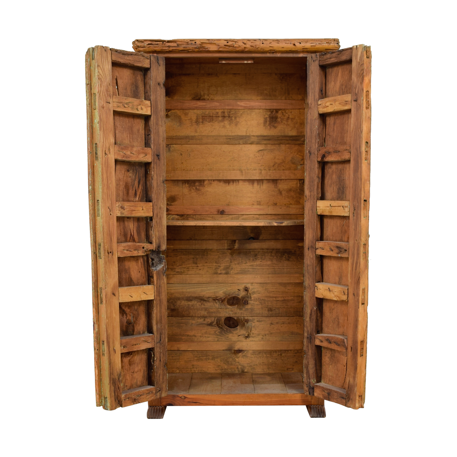buy ABC Home & Carpet ABC Home & Carpet Authentic Mexican Rustic Barn Wood Armoire online