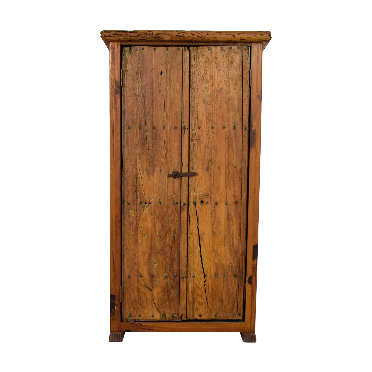 ABC Home & Carpet Authentic Mexican Rustic Barn Wood Armoire / Storage