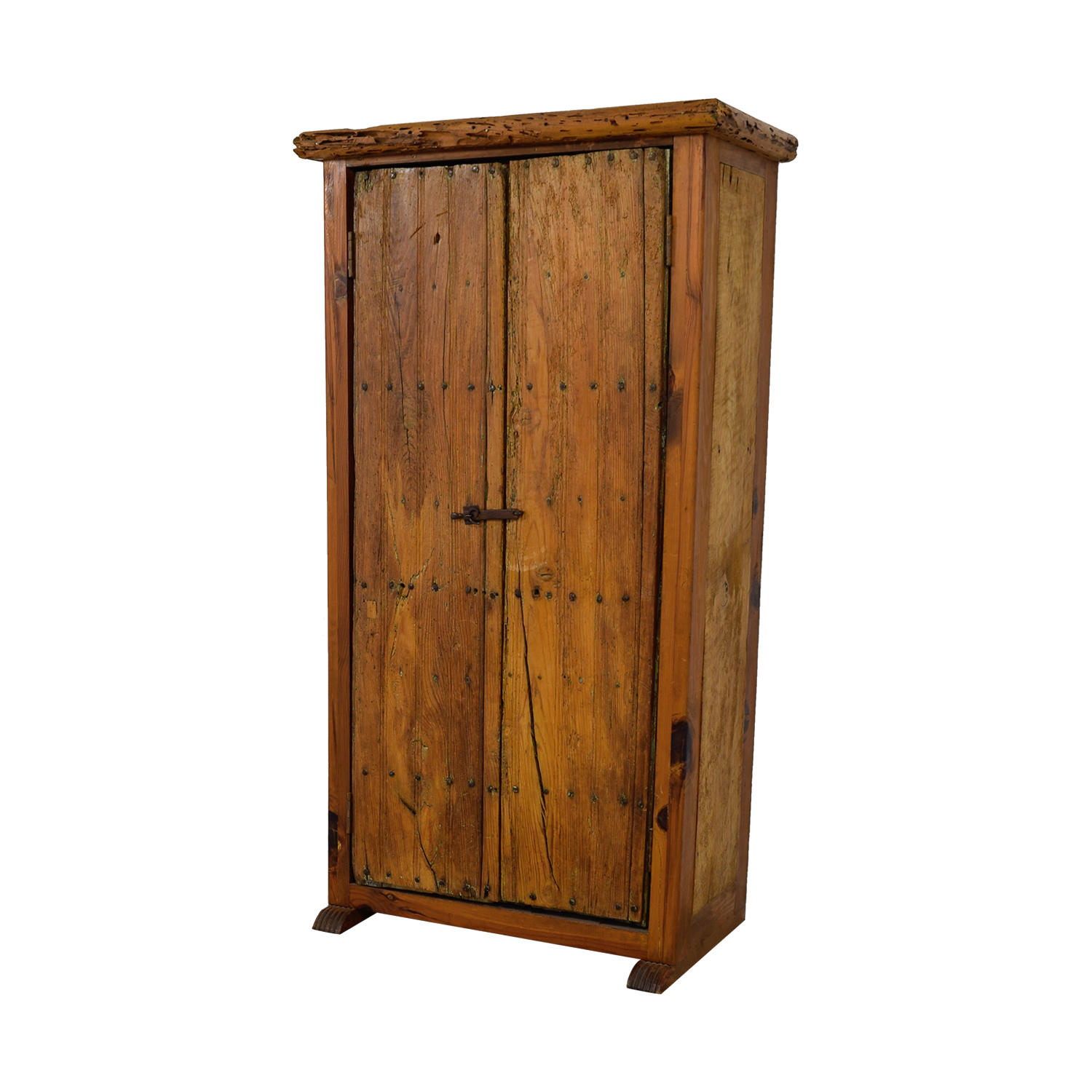 ABC Home & Carpet ABC Home & Carpet Authentic Mexican Rustic Barn Wood Armoire