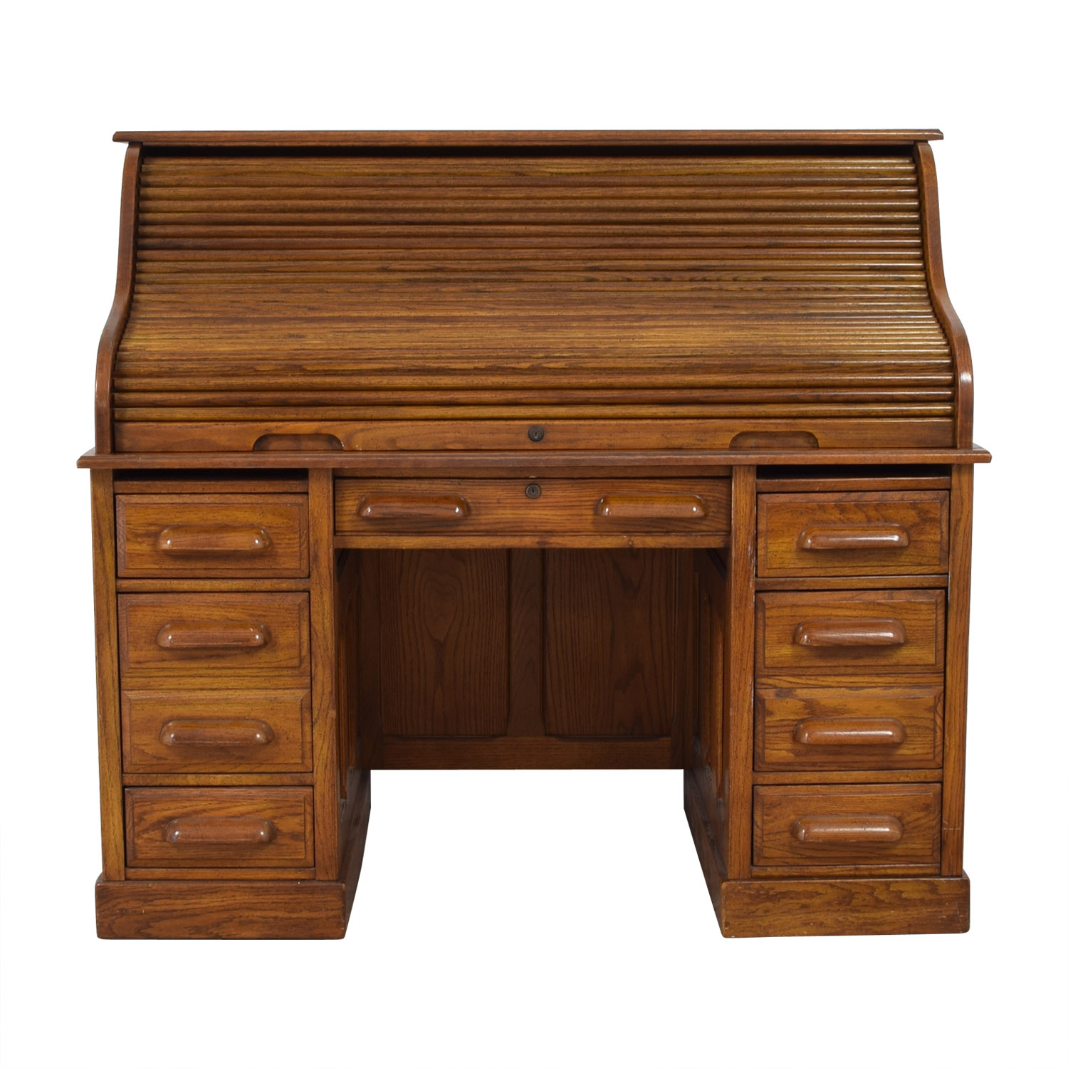 National Mt. Airy National Mt. Airy Vintage Oak Wood Roll Top Desk second hand