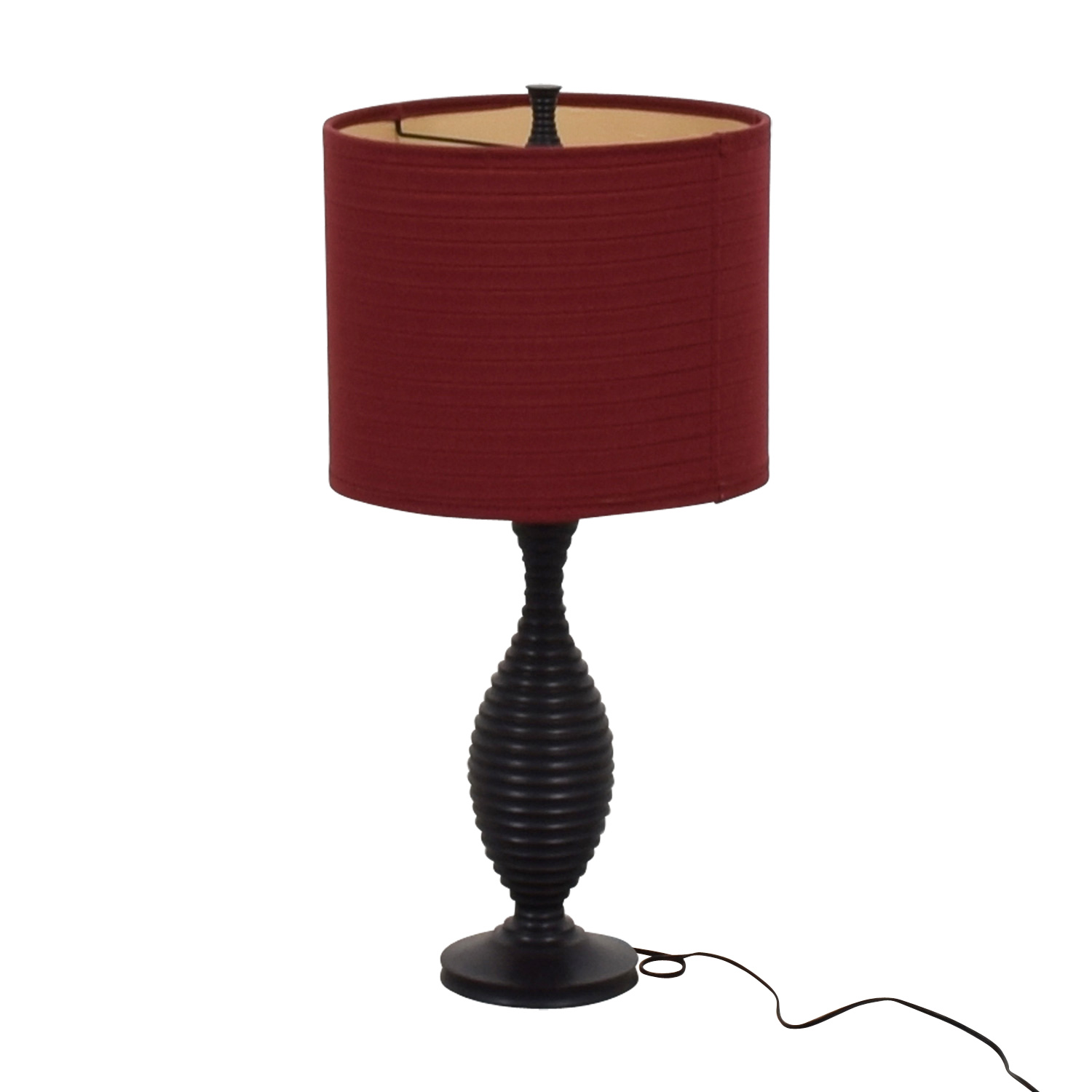 33 Off Black Red Shade Table Lamp Decor