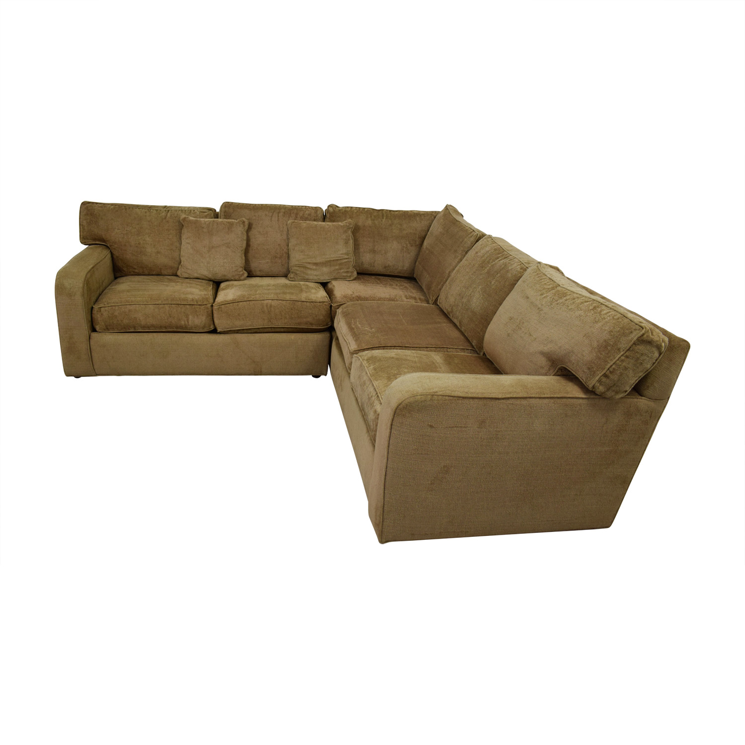 Ethan Allen Ethan Allen Taupe L-Shaped Sectional nyc