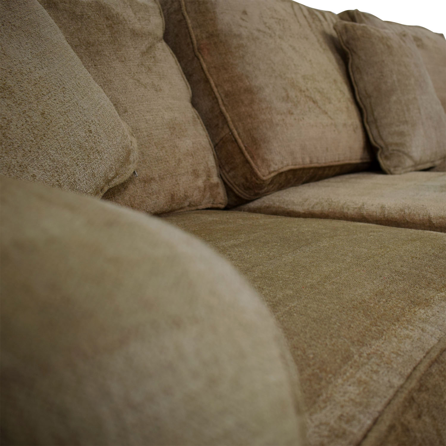 Ethan Allen Ethan Allen Taupe L-Shaped Sectional dimensions