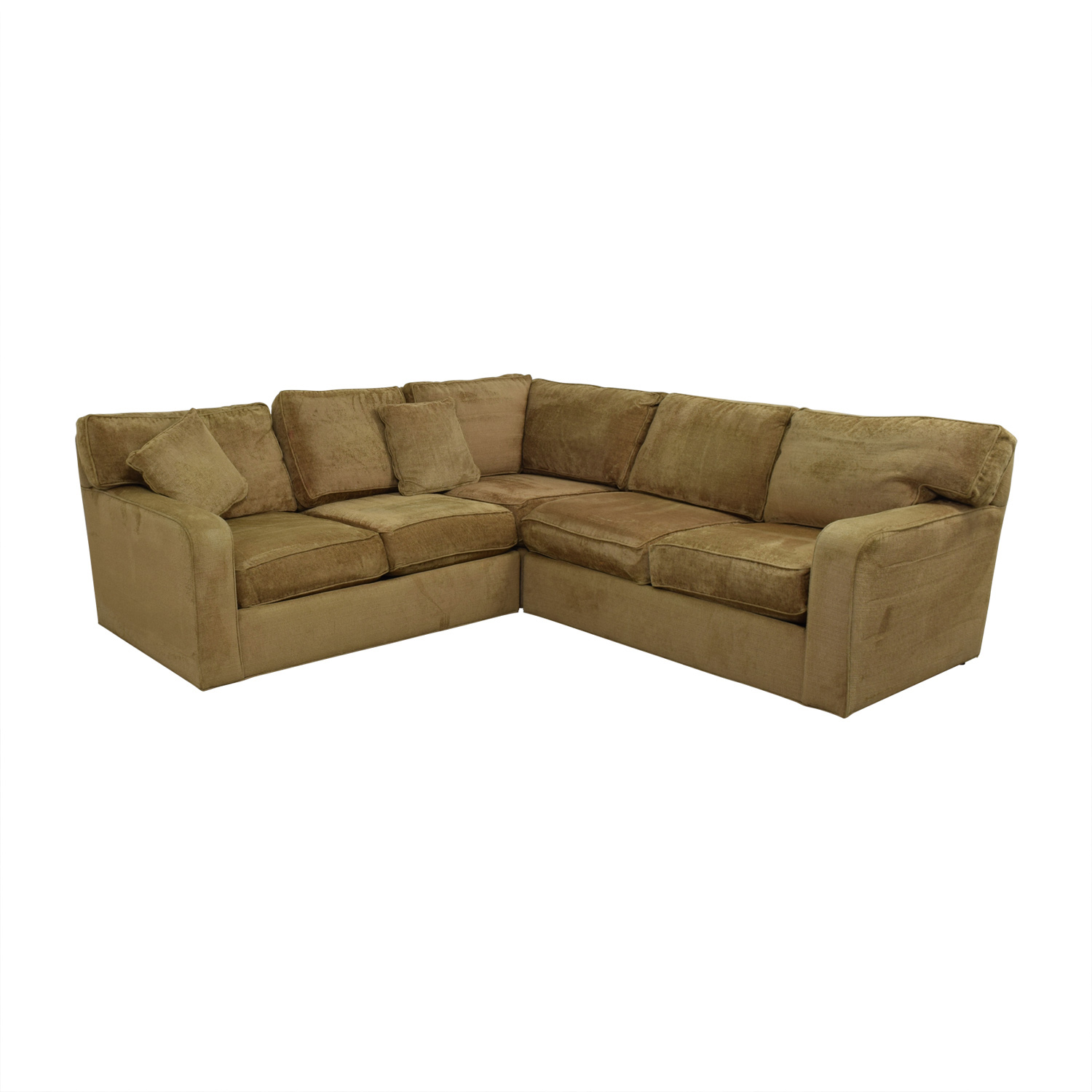 buy Ethan Allen Taupe L-Shaped Sectional Ethan Allen Sectionals