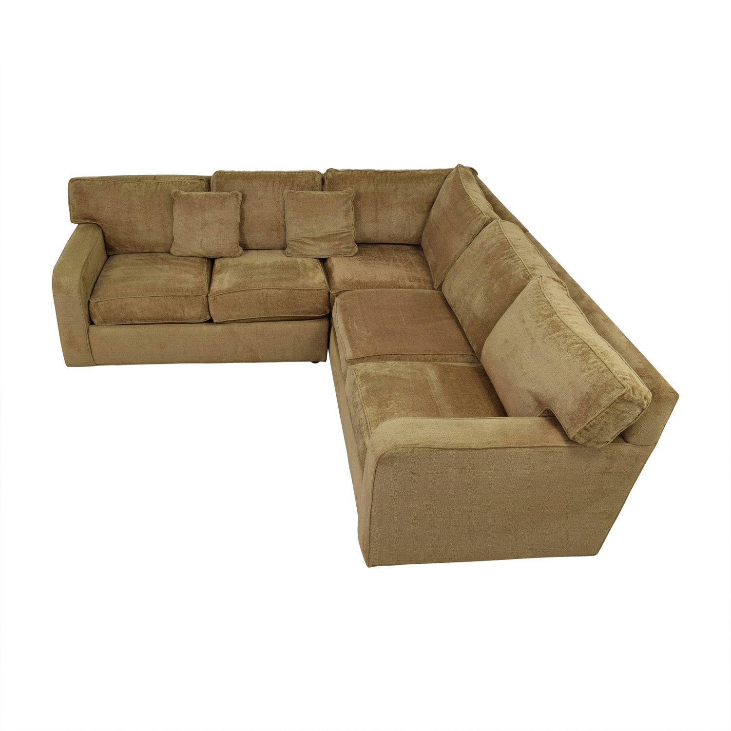 Ethan Allen Ethan Allen Taupe L-Shaped Sectional Sectionals