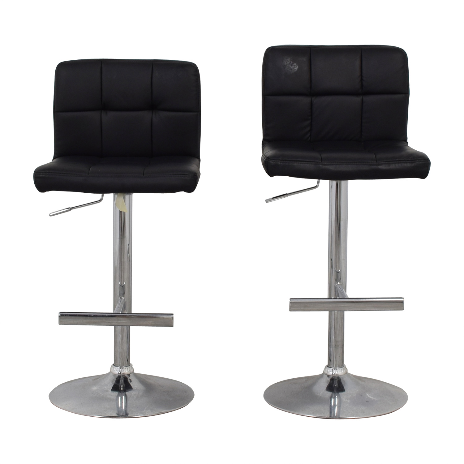 Coaster Coaster Black Semi-Tufted Adjustable Bar Stools dimensions