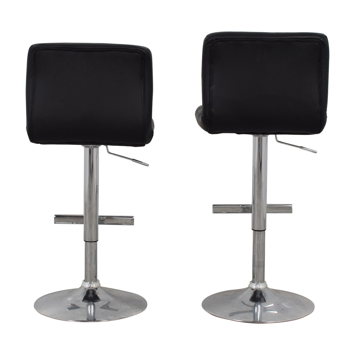 buy Coaster Coaster Black Semi-Tufted Adjustable Bar Stools online
