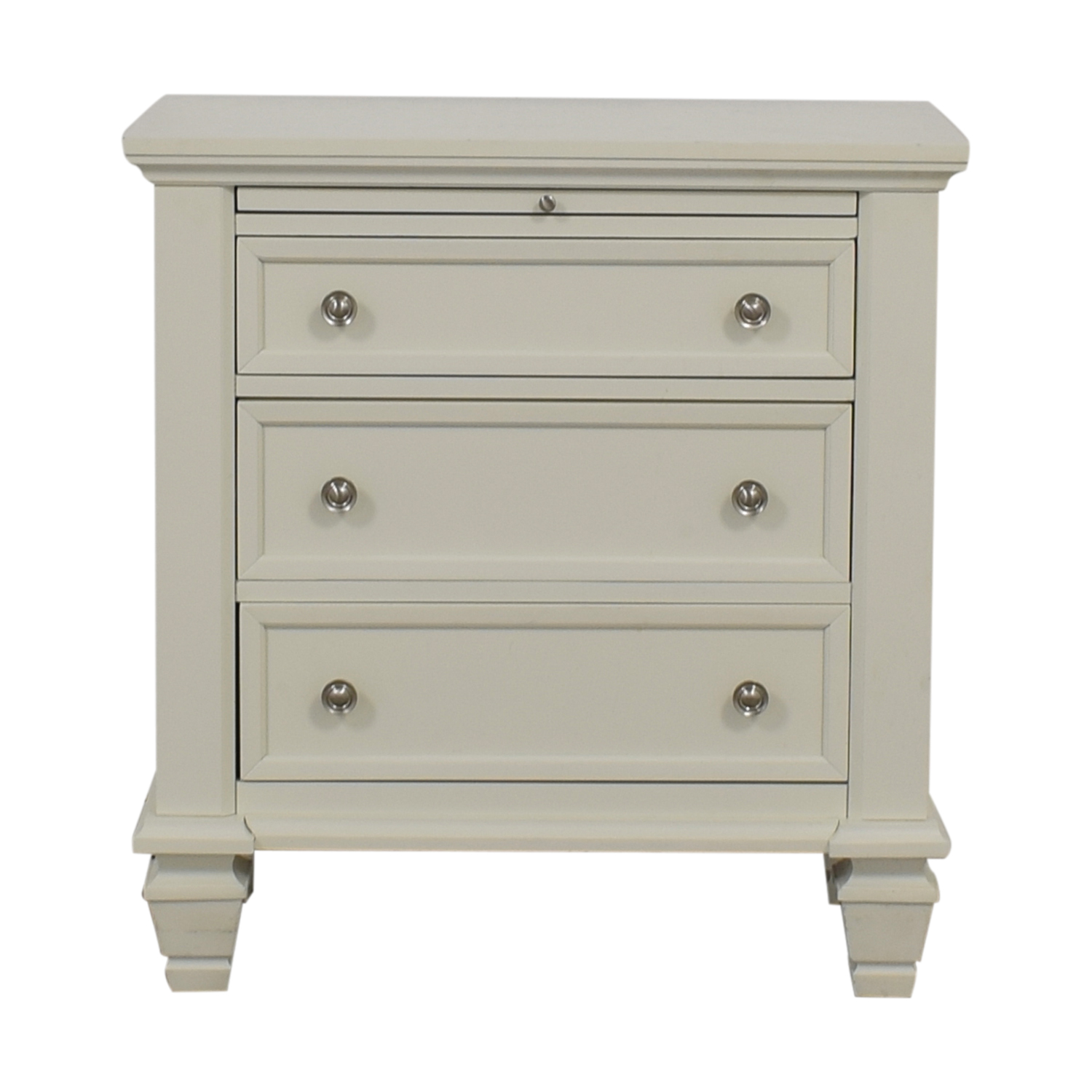 Coaster Coaster White Three-Drawer Night Stand used