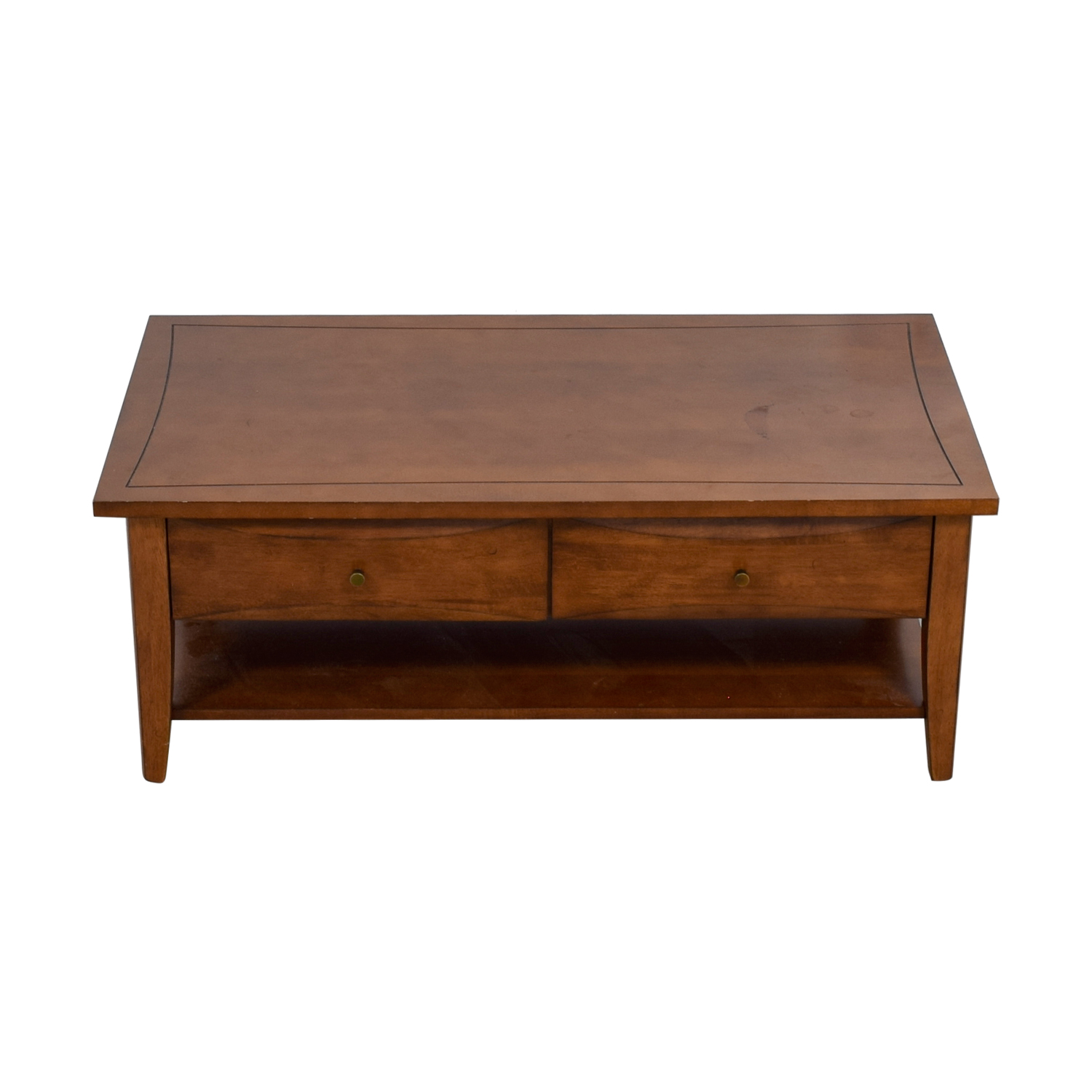 Coaster Two-Drawer Wood Coffee Table sale