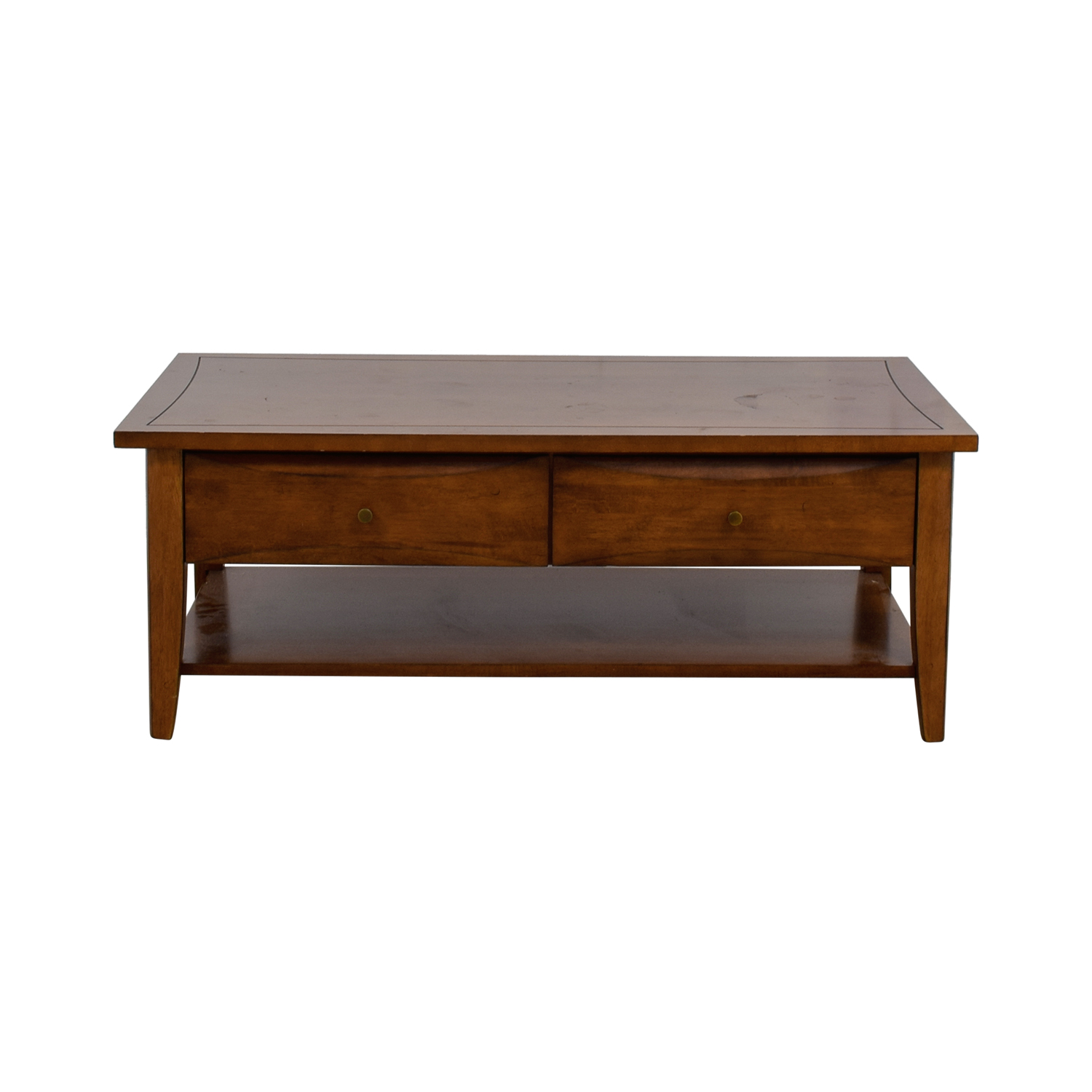 Coaster Two Drawer Wood Coffee Table Tables
