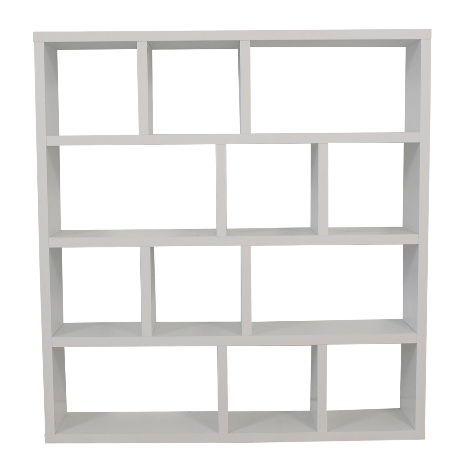 ABC Carpet & Home ABC Carpet & Home White Cube Bookshelf Decor