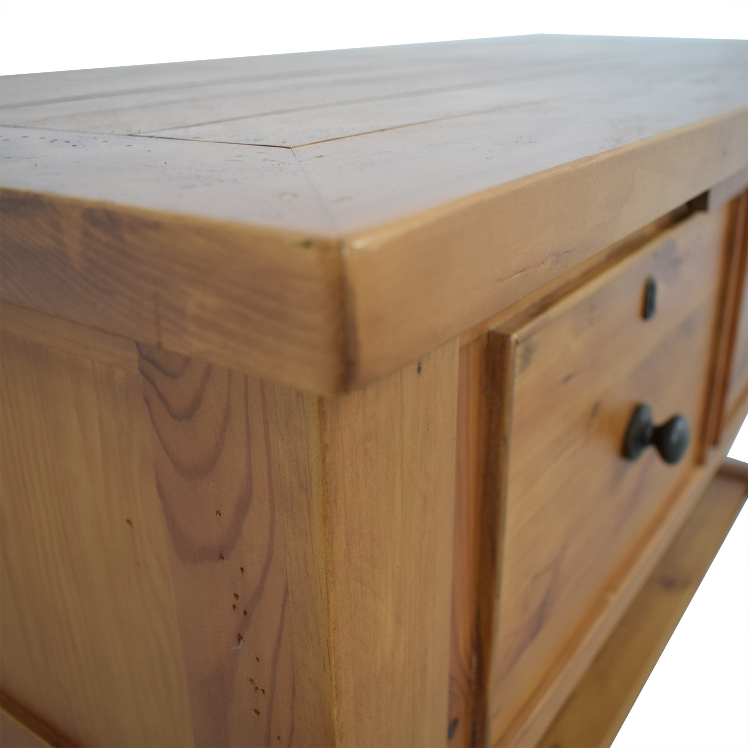 shop Pottery Barn Cabinet with Three Drawers Pottery Barn