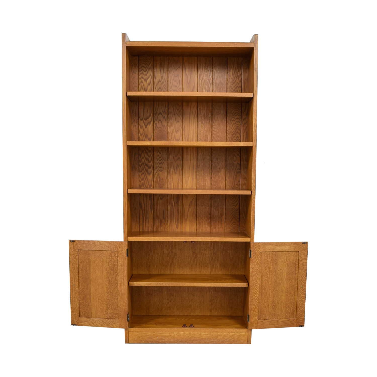 Stickley Stickley Wood Bookcase with Storage discount