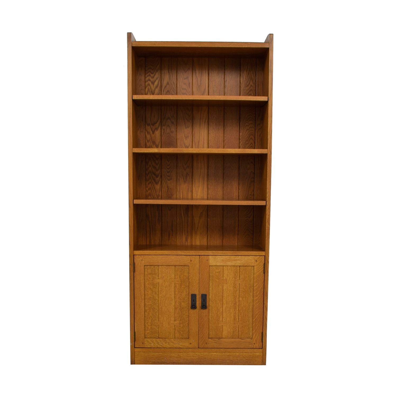 Swell 88 Off Stickley Furniture Stickley Wood Bookcase With Storage Storage Inzonedesignstudio Interior Chair Design Inzonedesignstudiocom