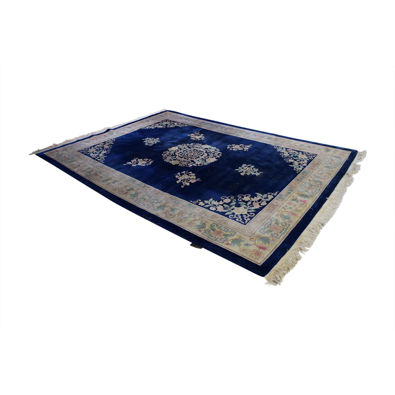 Kurdistan Kurdistan Royal Blue Oriental Floral Rug coupon