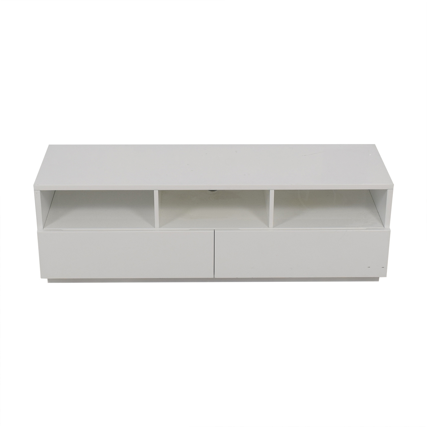 West Elm West Elm Chill White Two-Drawer Entertainment Stand discount