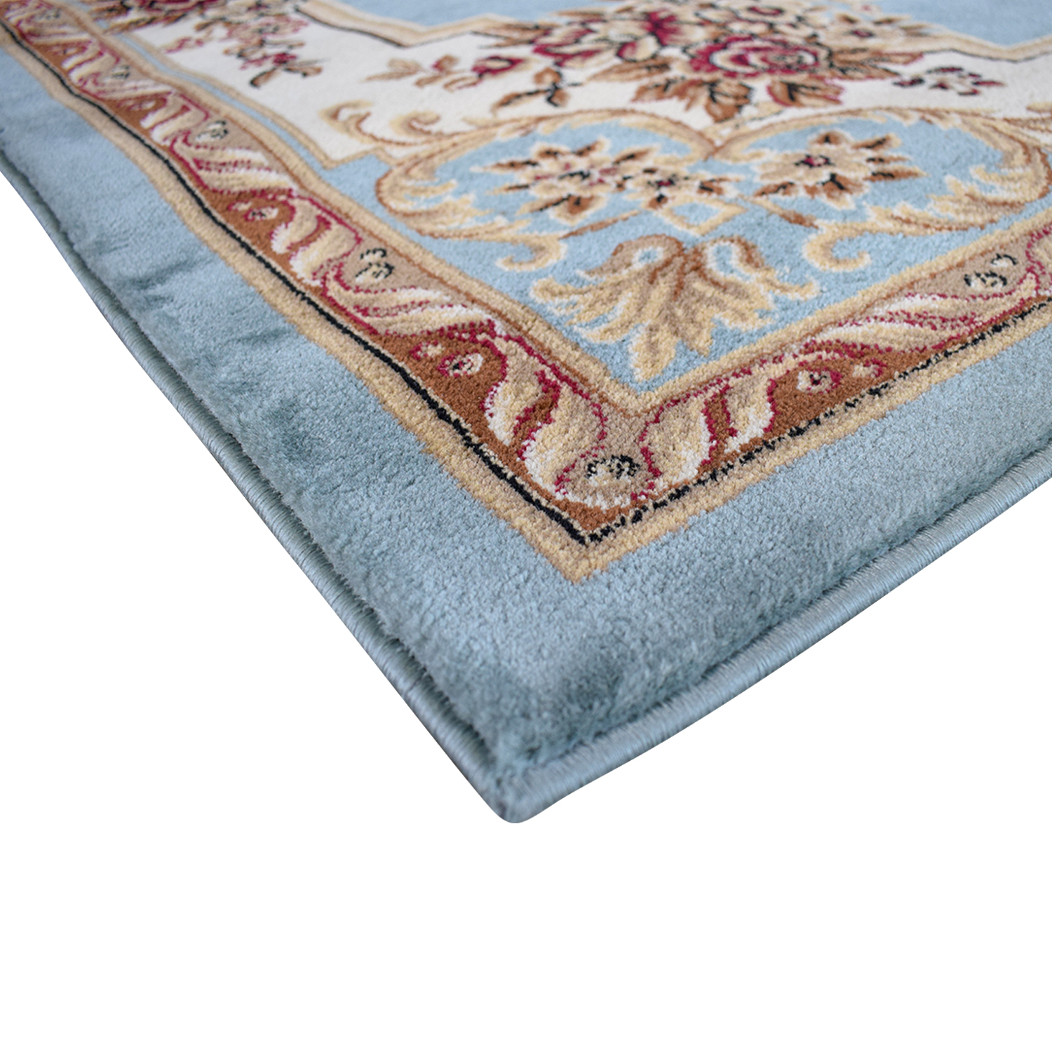buy Well Woven Timeless Le Petit Palais Blue Floral Rug Well Woven Rugs