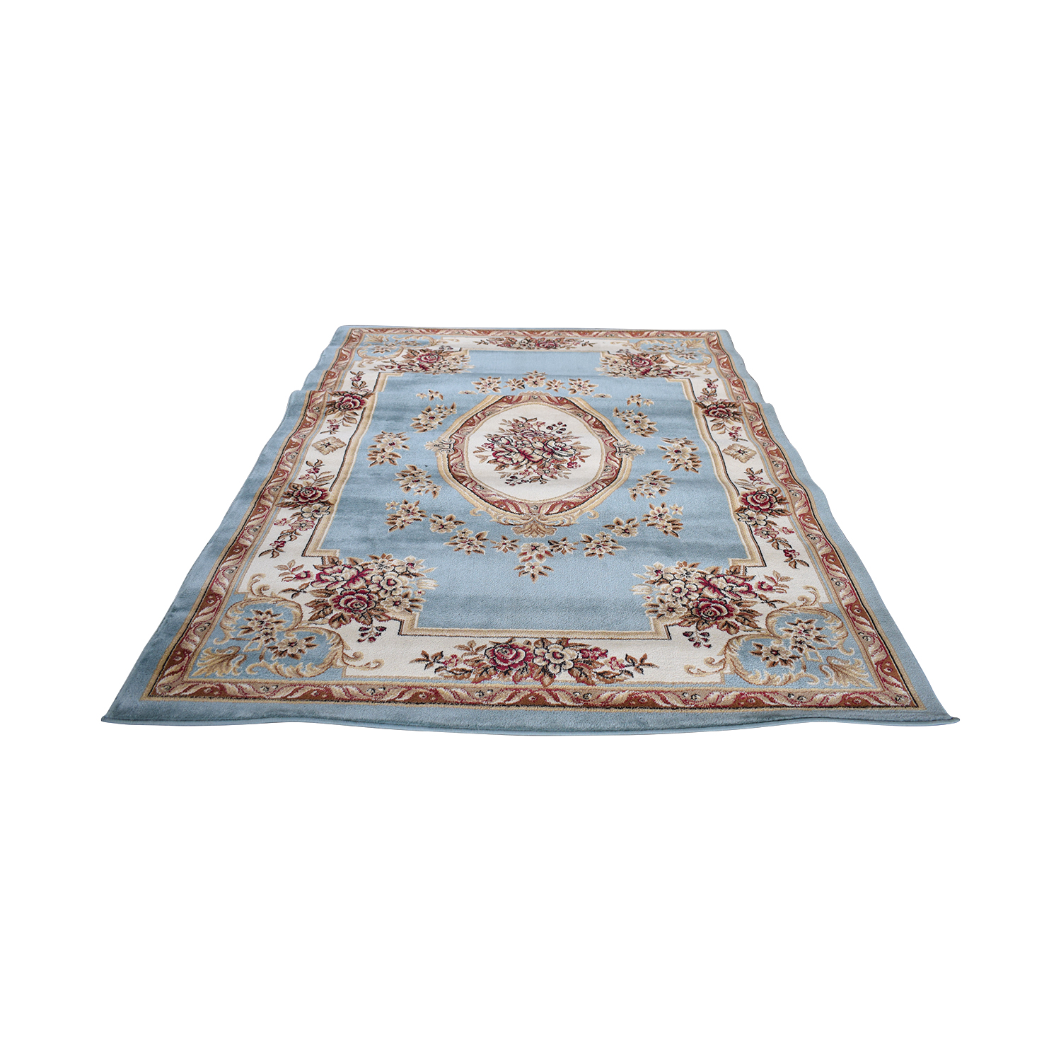 buy Well Woven Well Woven Timeless Le Petit Palais Blue Floral Rug online