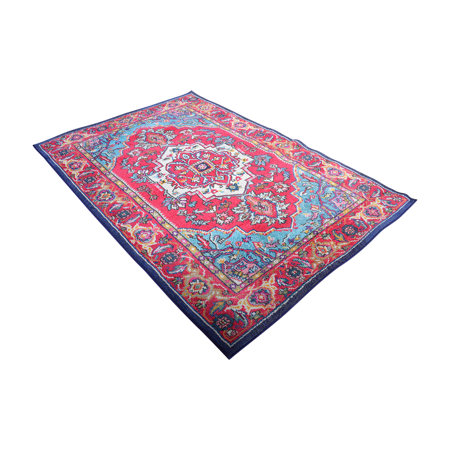 Safavieh Safavieh Monaco Oriental Bohemian Red and Turquoise Rug second hand