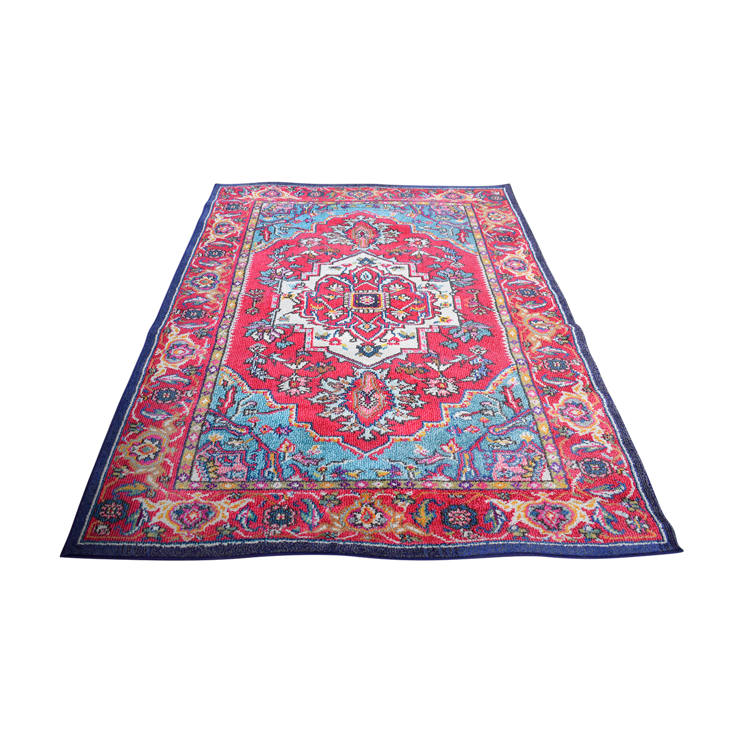 Safavieh Safavieh Monaco Oriental Bohemian Red and Turquoise Rug coupon