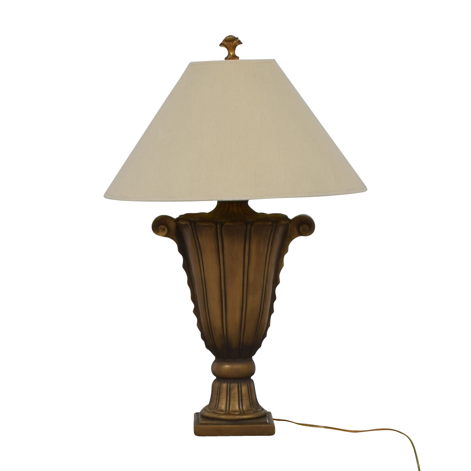 buy RoomsToGo Gold Scroll Lamp RoomsToGo Lamps