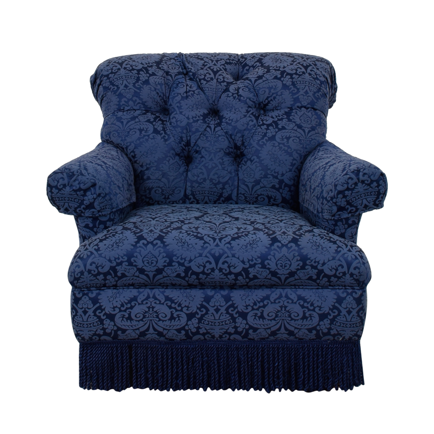 Ralph Lauren Ralph Lauren Blue Tufted Club Chair second hand