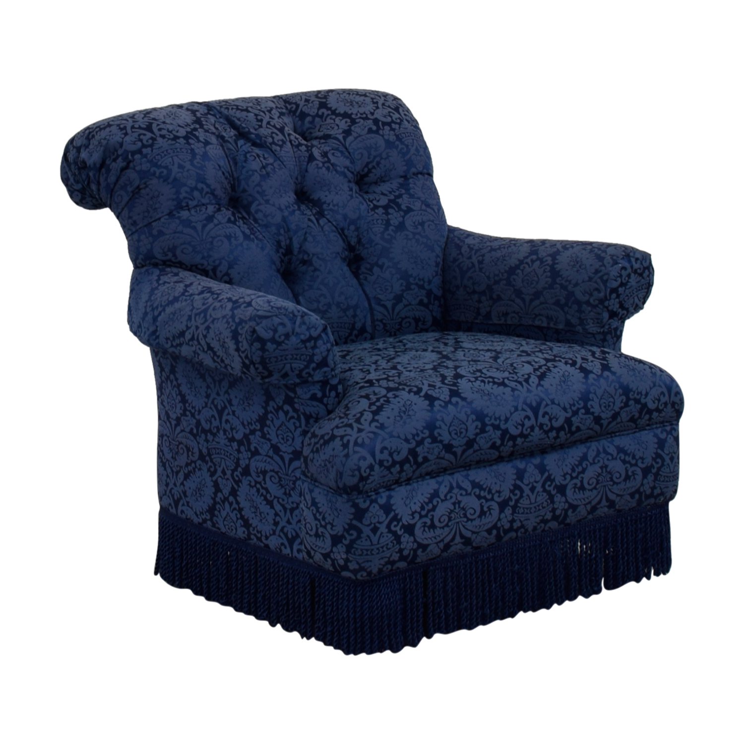 ... Ralph Lauren Blue Tufted Club Chair Ralph Lauren ...