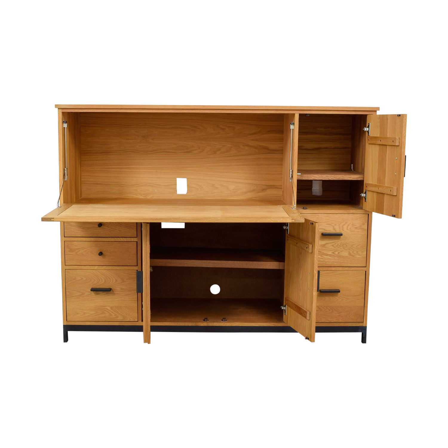 buy Room & Board Maple Office Armoire Room & Board Home Office Desks