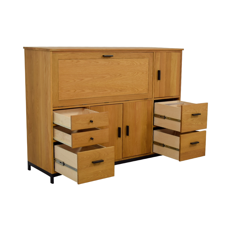 buy Room & Board Maple Office Armoire Room & Board Wardrobes & Armoires